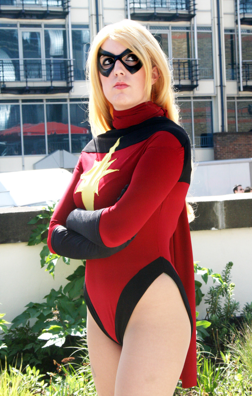 Ms.Marvel Carol Danvers Bodysuit Halloween Costume