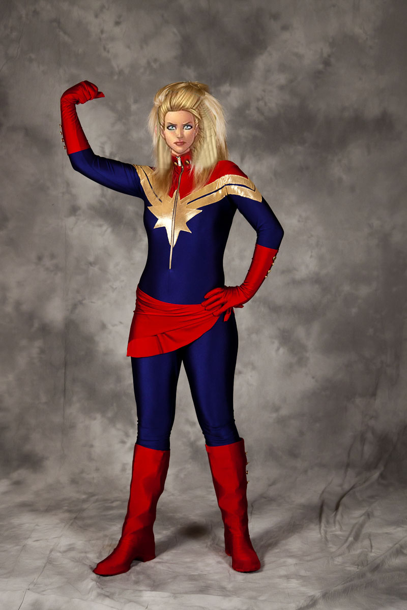 Ms.Marvel Carol Danvers Catsuits Cosplay Costume