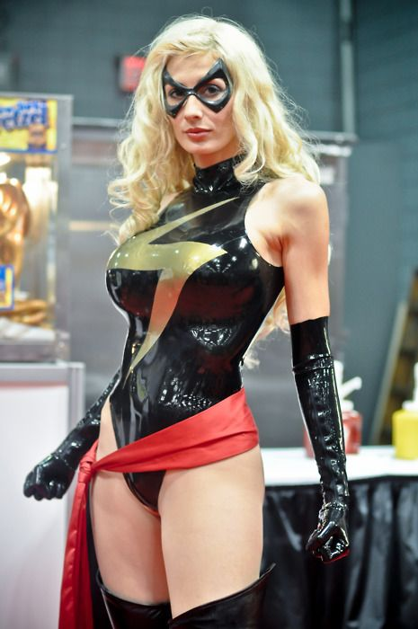 Ms.Marvel Carol Danvers Pvc Cosplay Costume