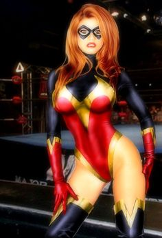 Ms.Marvel Carol Danvers Shiny Halloween Costumes