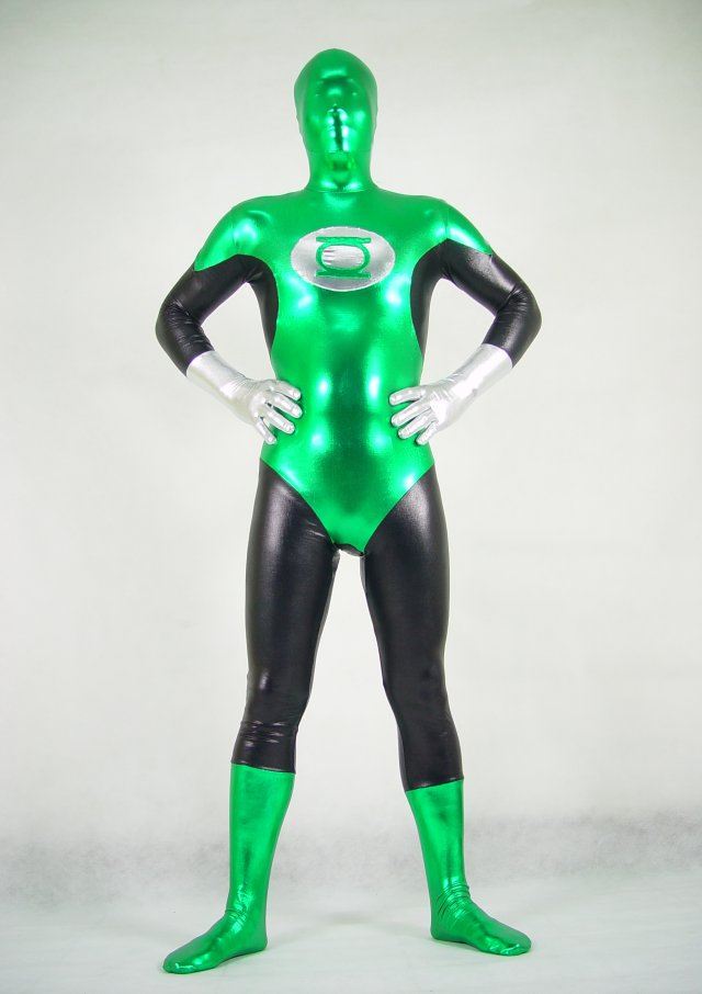 Multi Green Halloween Costumes Zentai
