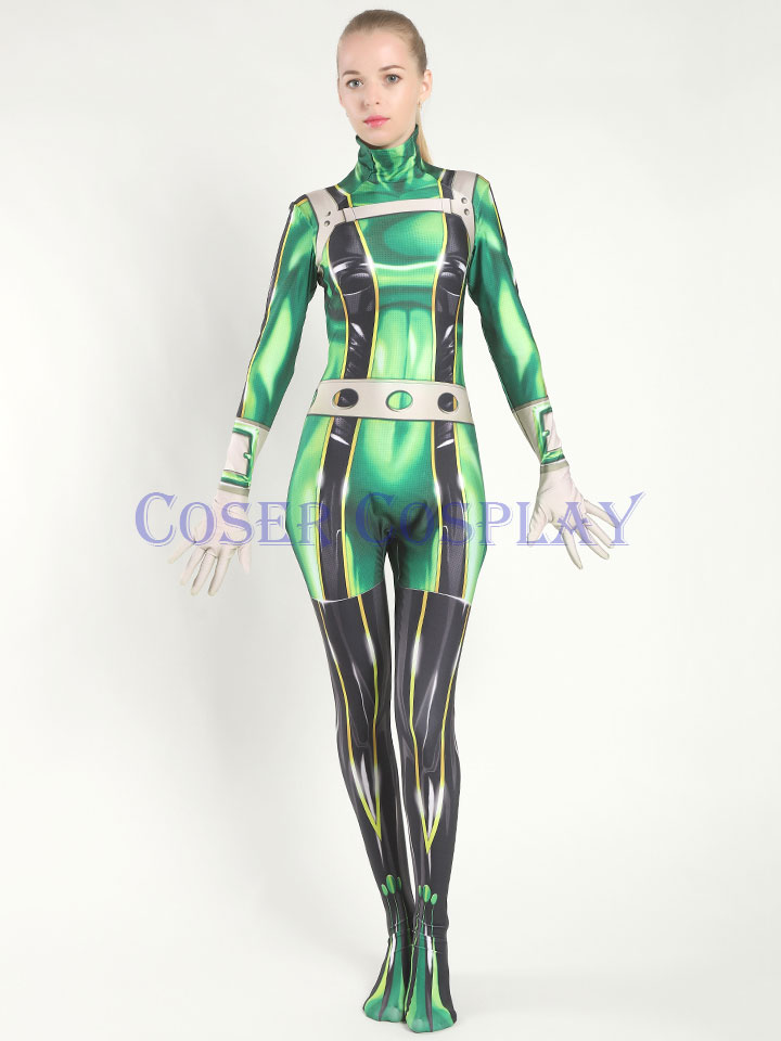 My Hero Academia Asui Tsuyu Frog Kid Costume 0827