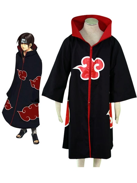 Naruto Dawn Akatsuki Organization Overcoat Cosplay Costume