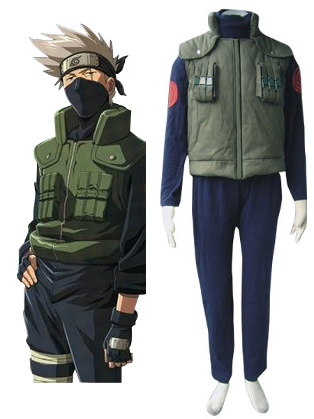 Naruto Hidden Leaf Village Of Konoha Jounins Uniform Cosplay Costume