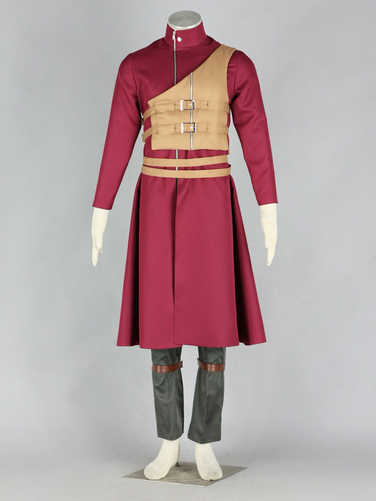 Naruto Shippuden Gaara Red Cosplay Costume