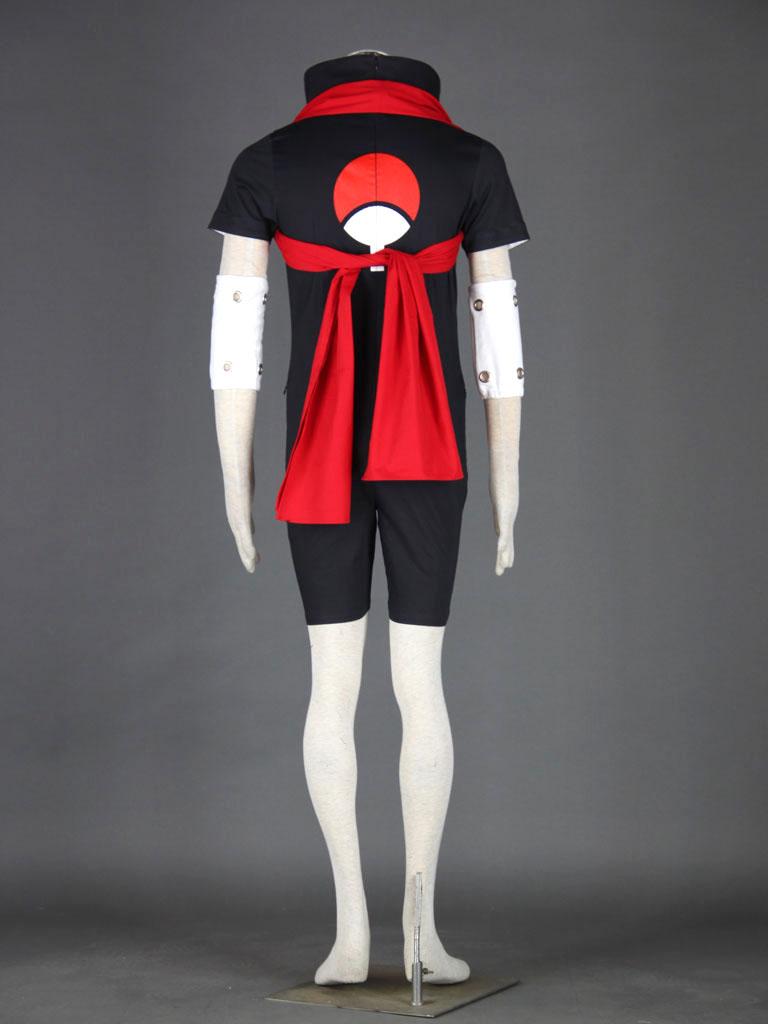 Naruto Uchiha Sasuke Black Cosplay Costume