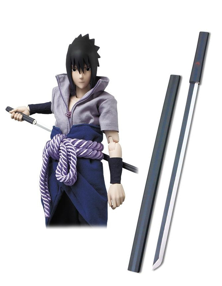 Naruto Uchiha Sasuke Black Kusanagi Cosplay Wooden Weapons