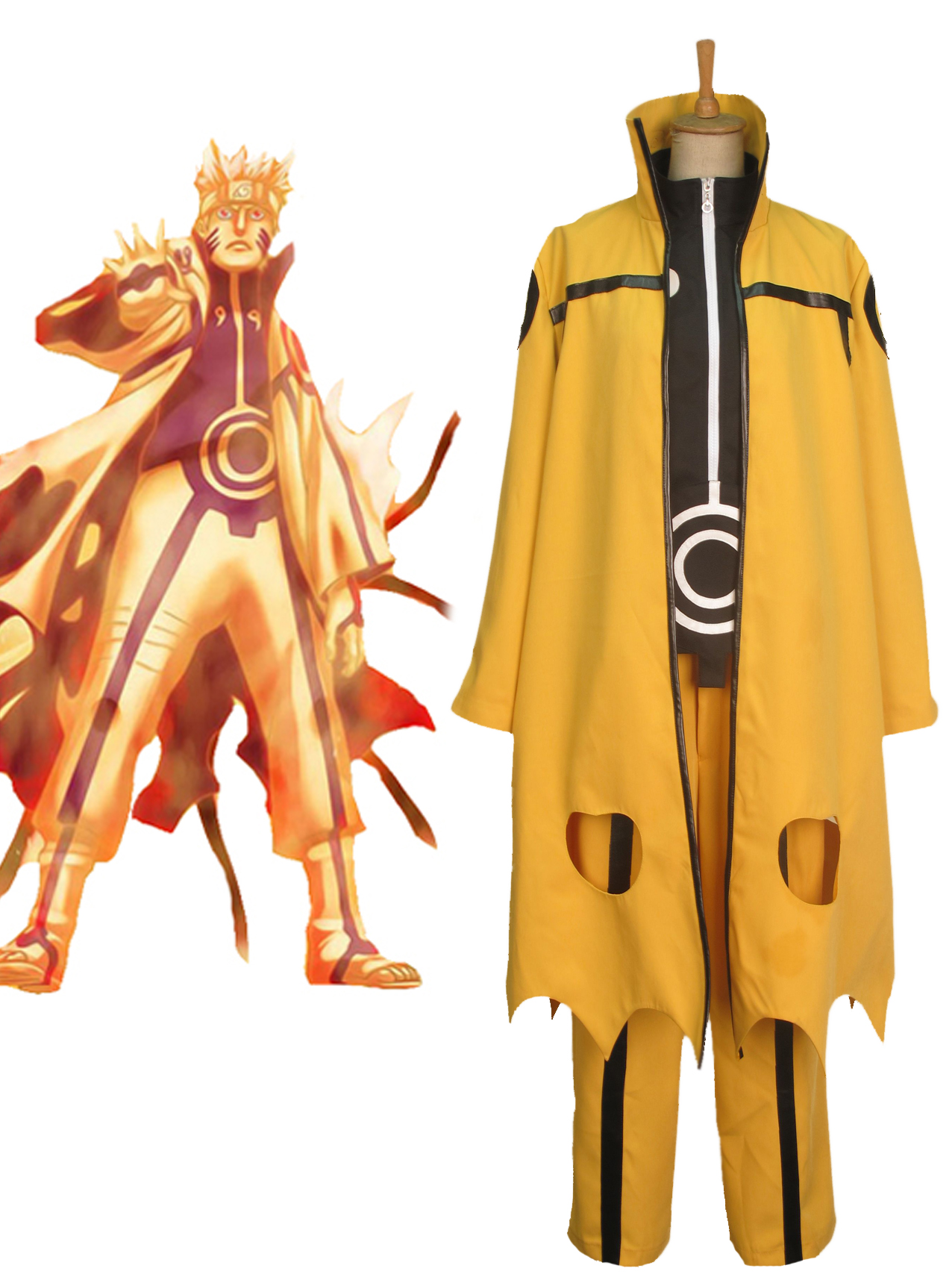 naruto uzumaki naruto nine tails bijuu mode cosplay costume