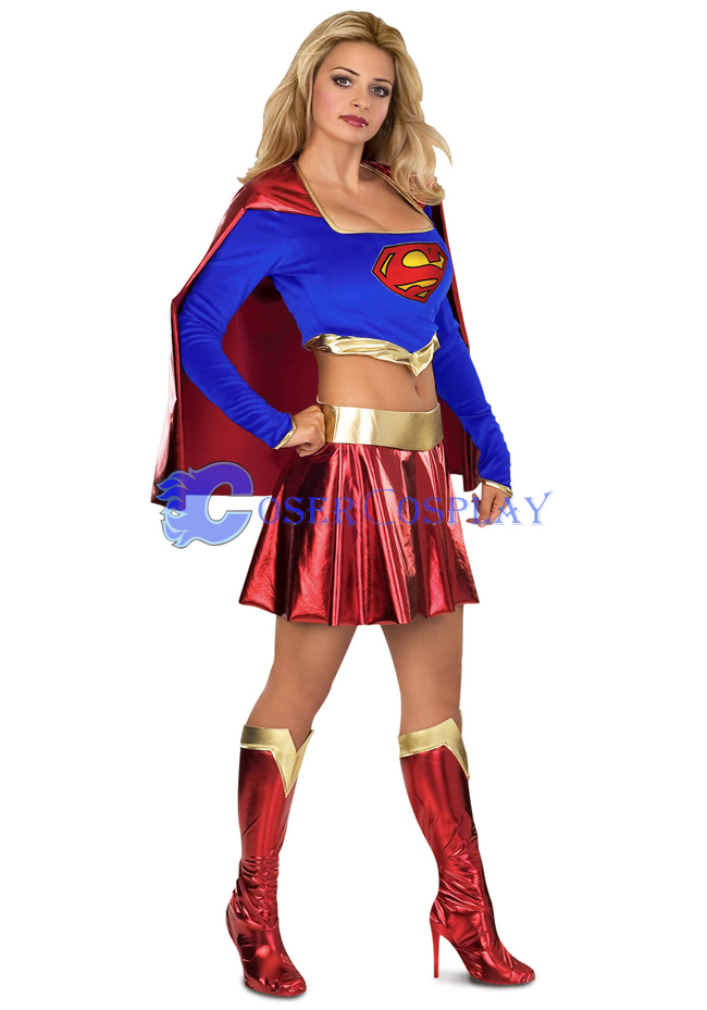 Nave Blue Superwoman Cosplay Costume Halloween