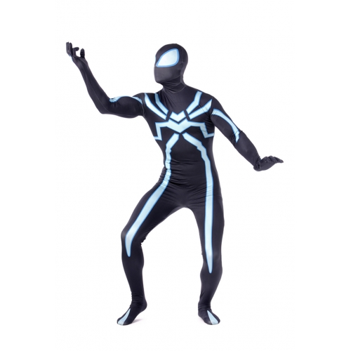 New Spandex Adult Black Spiderman Costume