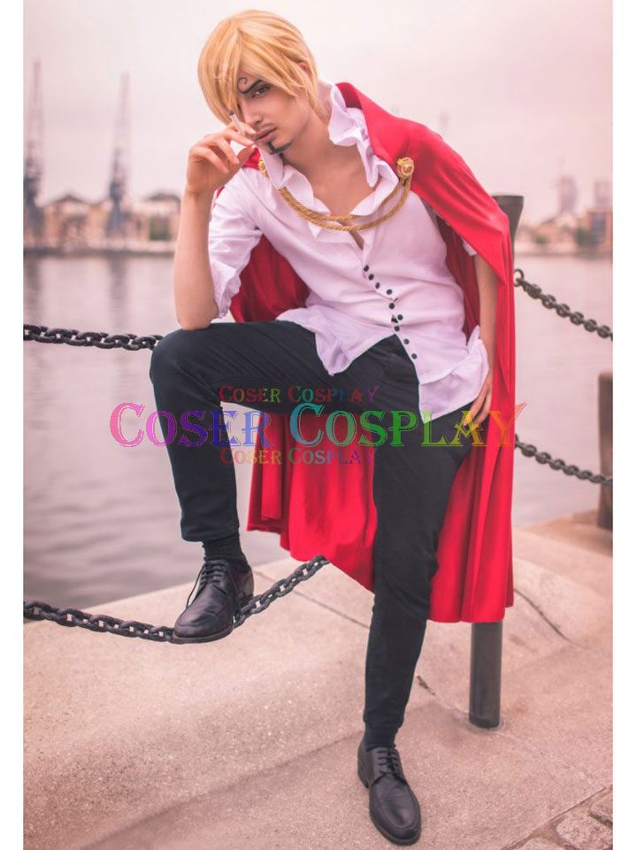 1611 ONE PIECE Vinsmoke Sanji Cosplay Costume With Cape
