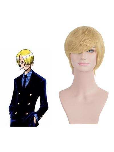 1611 ONE PIECE Vinsmoke Sanji Cosplay Wig