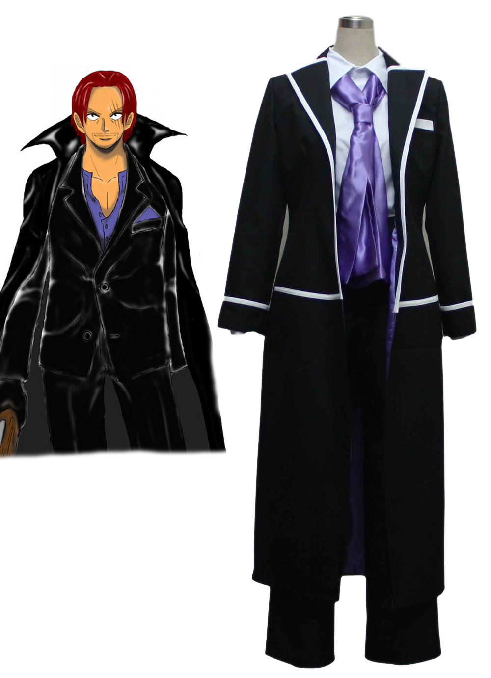 "One Piece ""Red-Haired"" Shanks Suit Cosplay Costume"