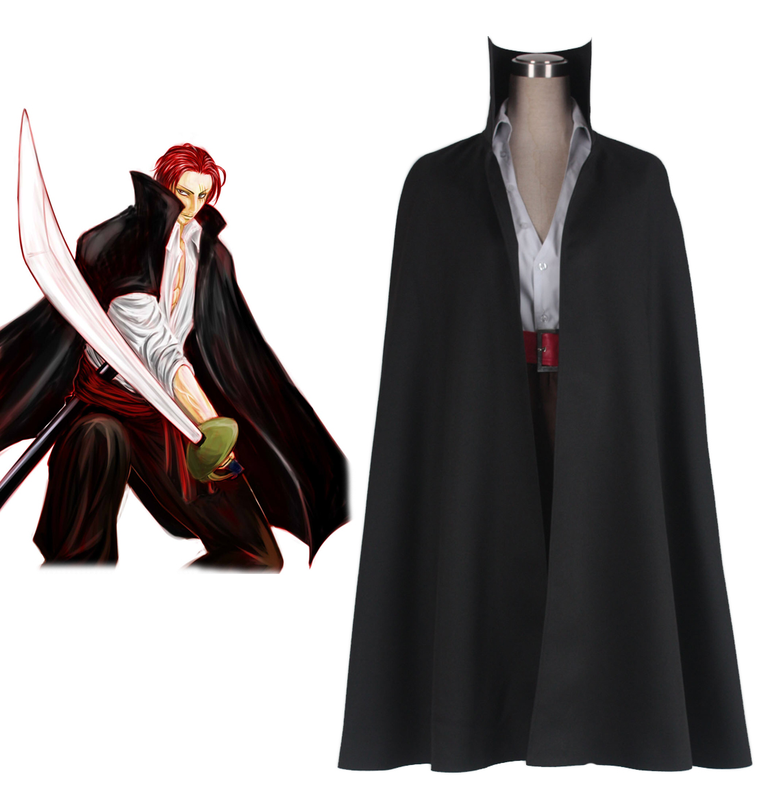 "One Piece ""Red-Haired"" Shanks Two Years Ago Cosplay Costume"