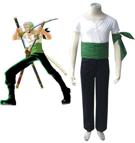 One Piece Roronoa Zoro Two Years Ago Cosplay Costume