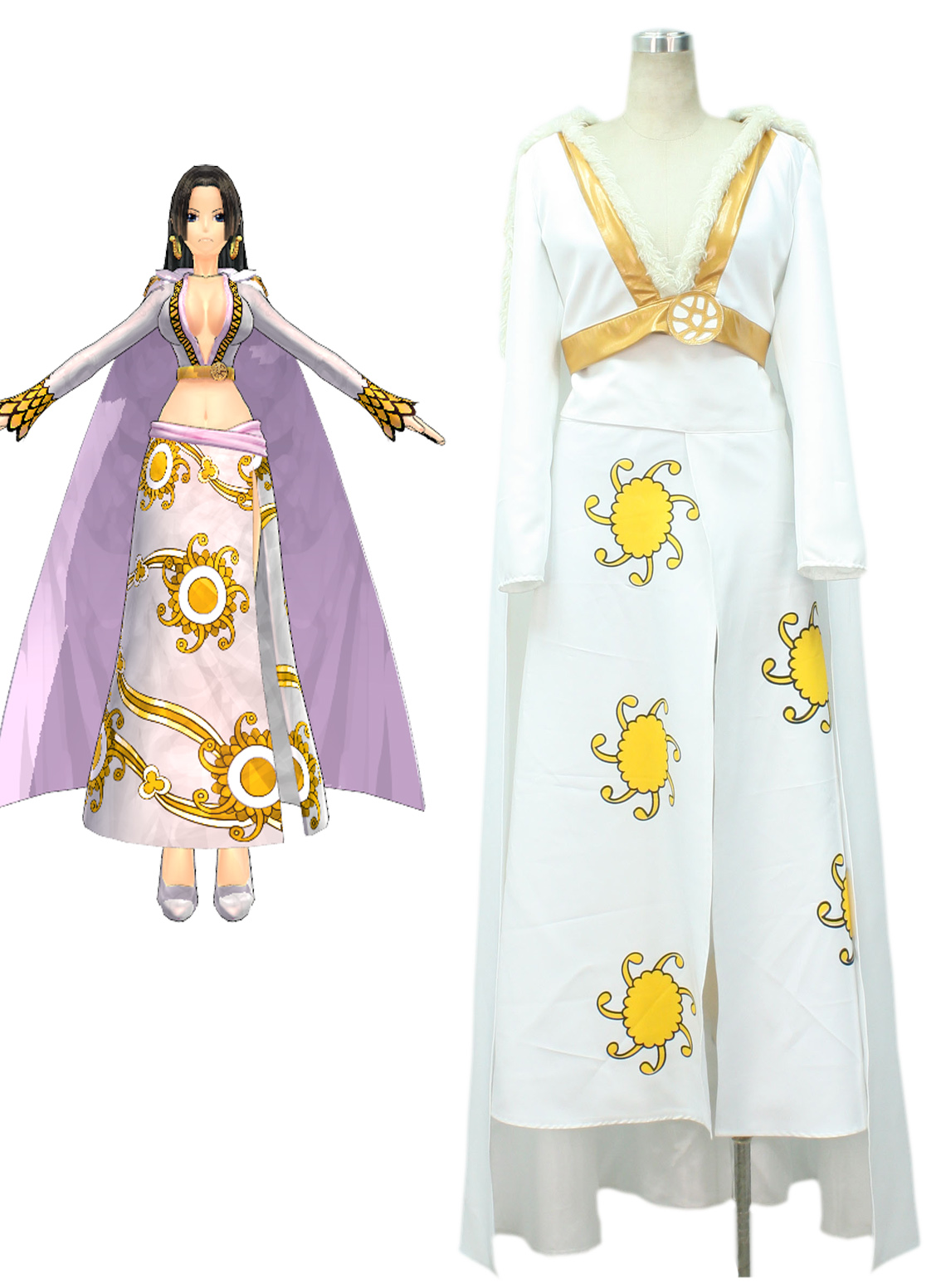 One Piece Seven Warlords of the Sea Pirate Empress Snake Princess Boa Hancock White Cosplay Costume