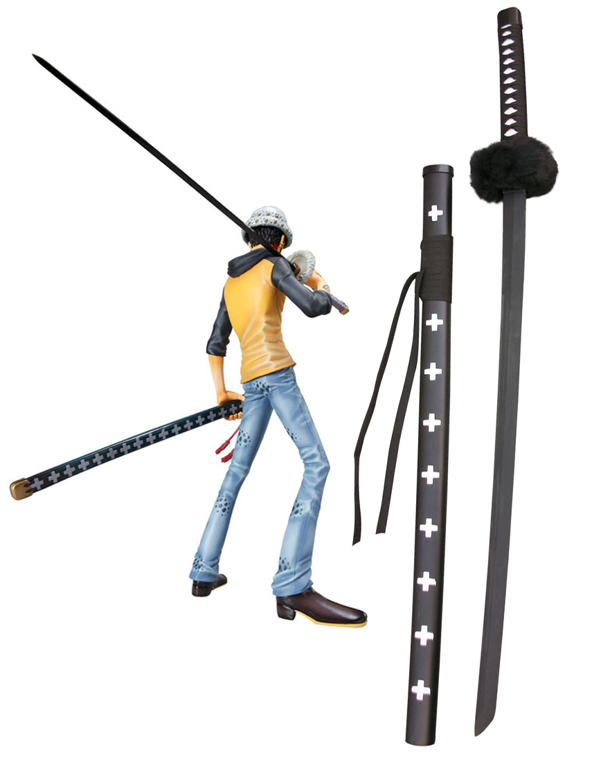 One Piece Trafalgar Law Black Sword Cosplay Wooden Weapons