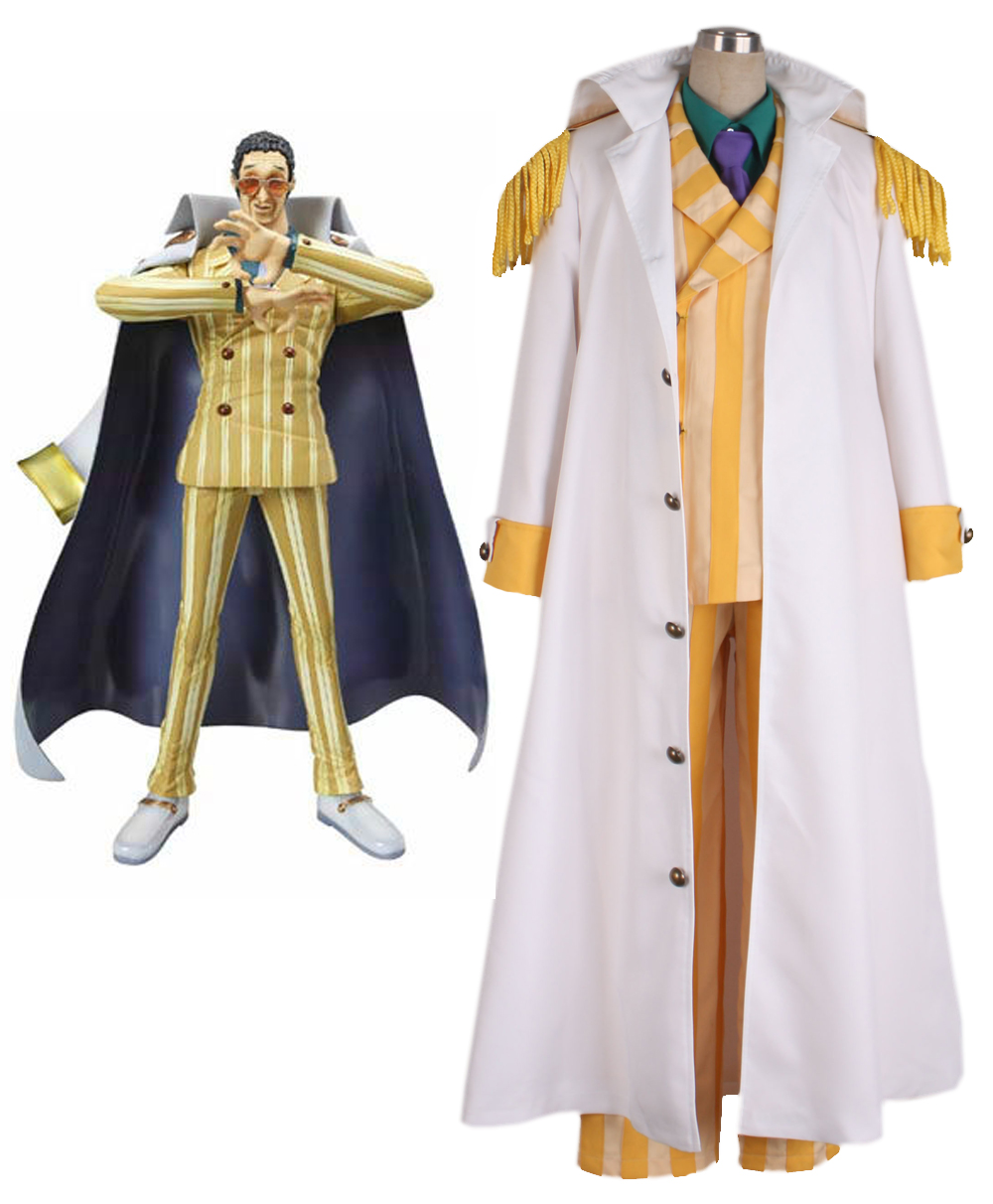 One piece Kprusoian Yellow Monkey Navy Admiral Uniform Cosplay Costume