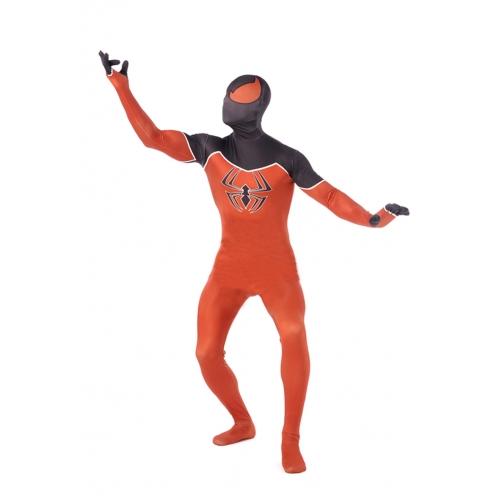 Orange Adult Spiderman Halloween Costume