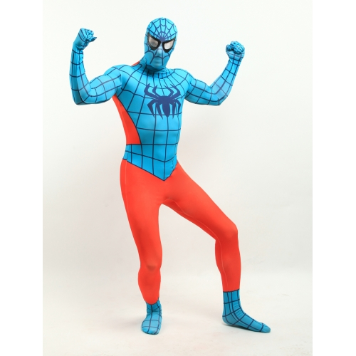Orange And Blue Spiderman Halloween Costume