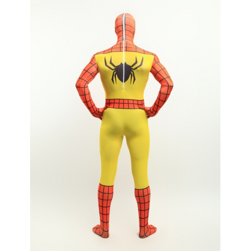 Orange And Yellow Spiderman Halloween Costume