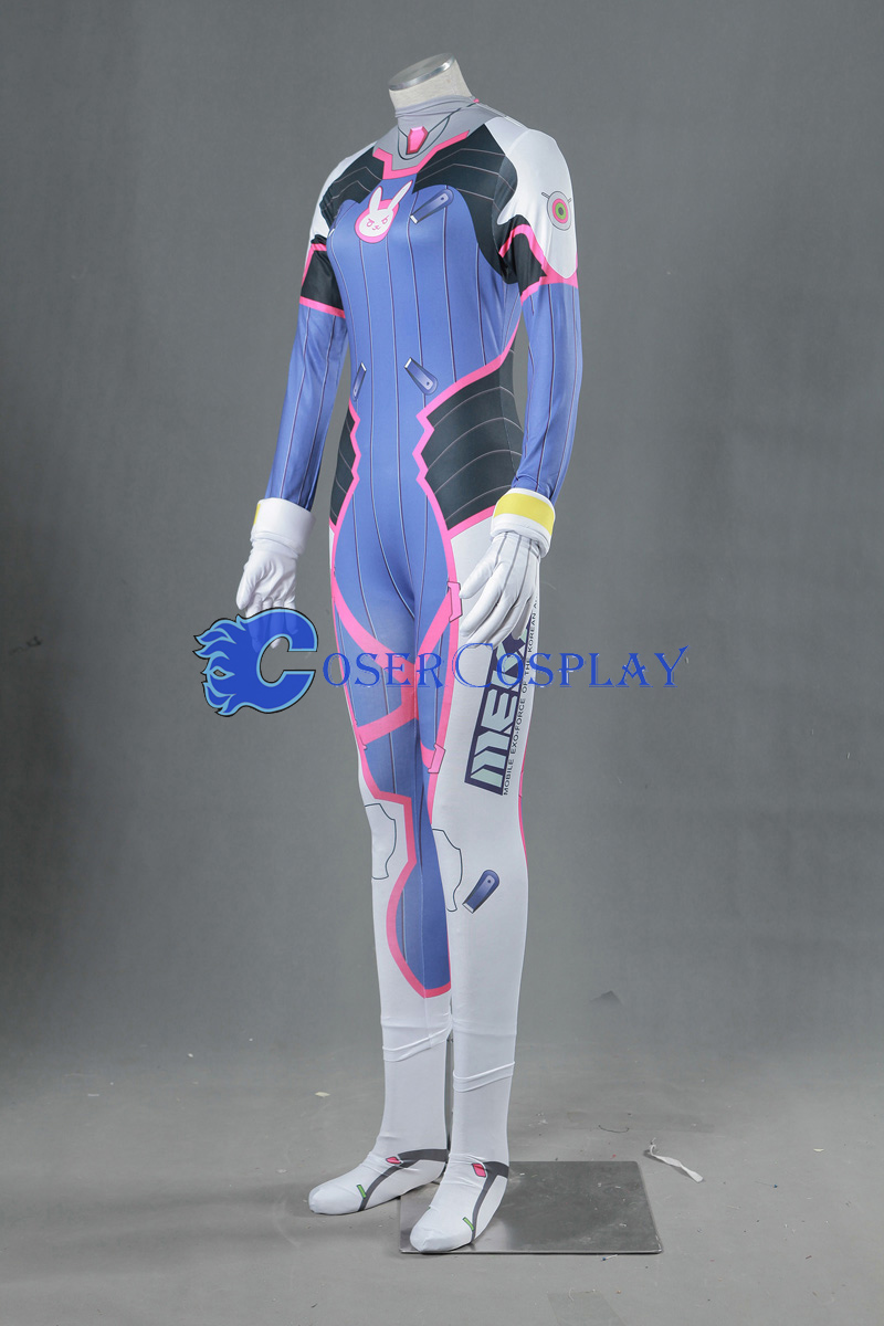 Overwatch OW Hana Song D.Va Catsuit Cosplay Costume