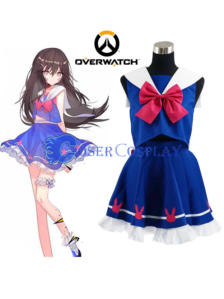 Overwatch OW Hana Song D.Va Uniform Cosplay Costume