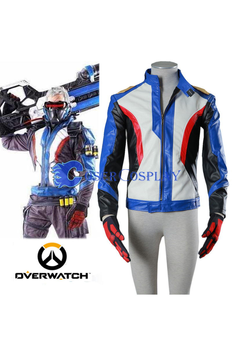 Overwatch OW Soldier 76 Jack Morrison Cosplay Costume