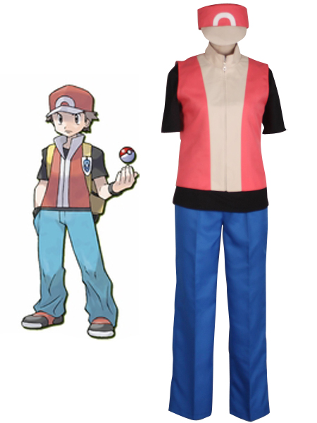 Pocket Monster Ash Ketchum Cosplay Costume