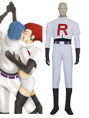 Pocket Monster Team Rocket James Cosplay Costume