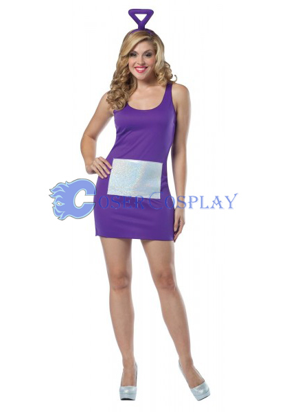 Purple Teletubbies Cosplay Costume Dress