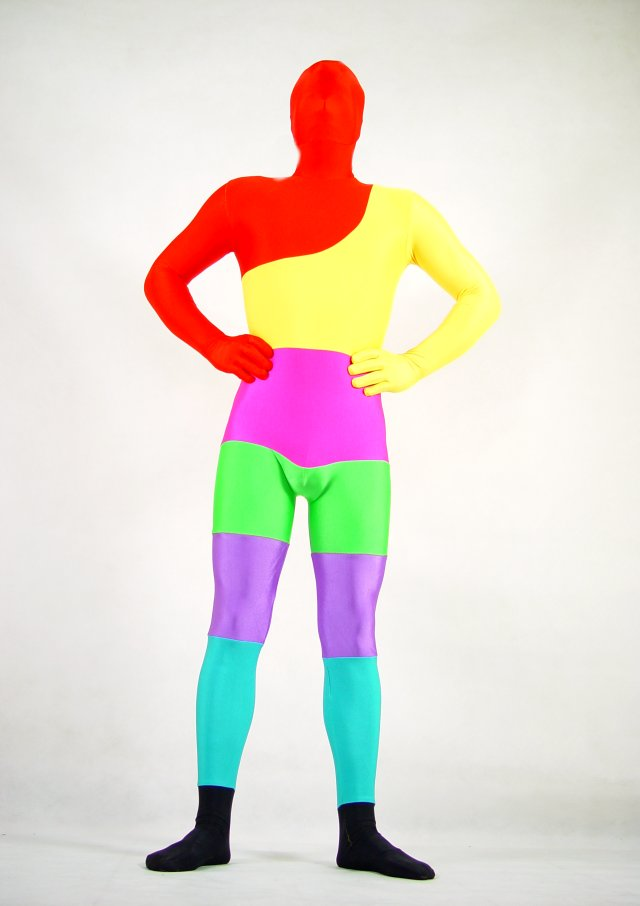 rainbow halloween costume ideas zentai