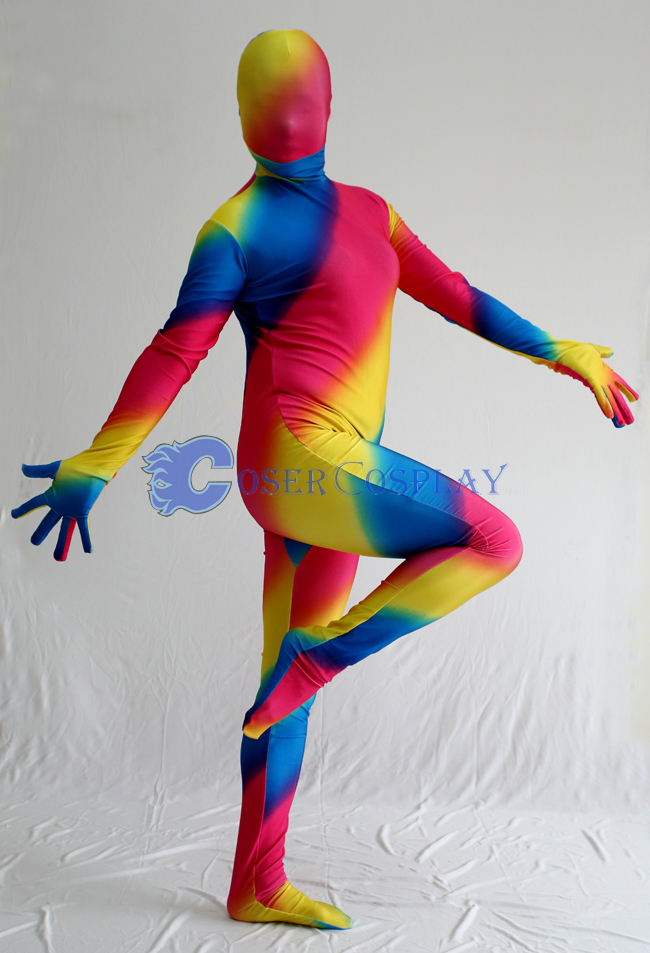 Rainbow Zentai Halloween Costume Ideas