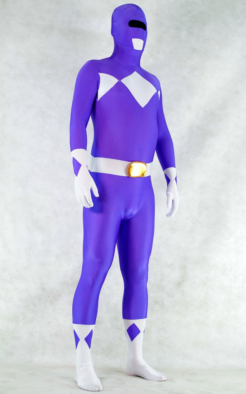 Ranger Halloween Costumes Zentai  Purple