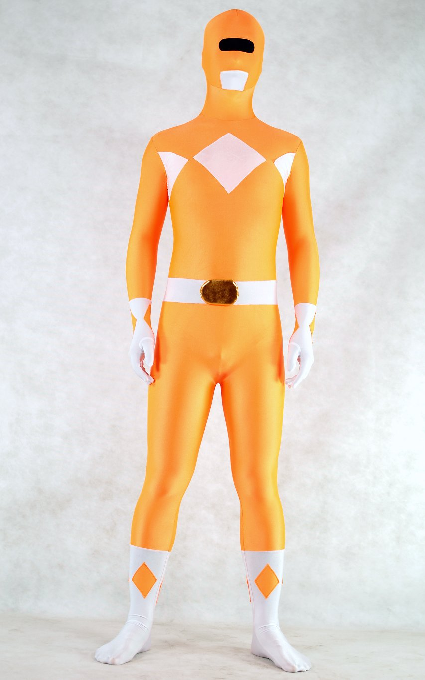 Ranger Halloween Costumes Zentai Orange