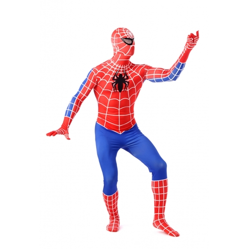 Red And Blue Adult Spiderman Costume