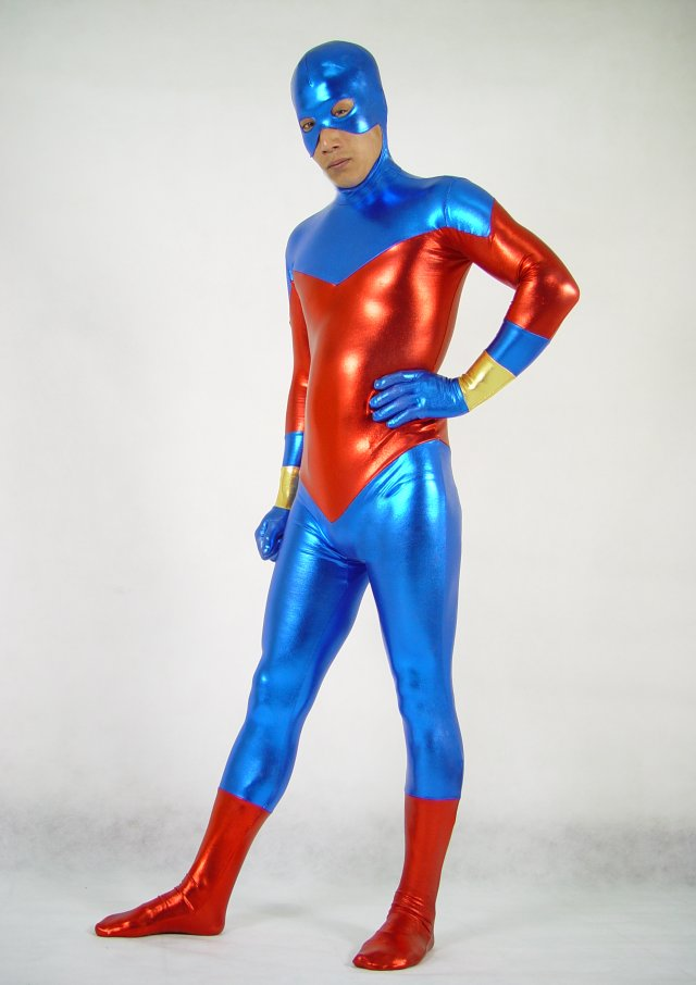 Red Blue Halloween Costume Ideas Zentai