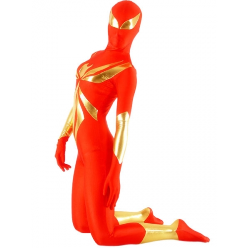 Red Female Spiderman Costume Zentai
