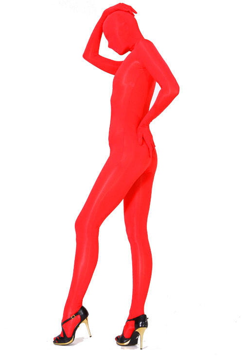 Red Lycra Fabric Full Body Suit