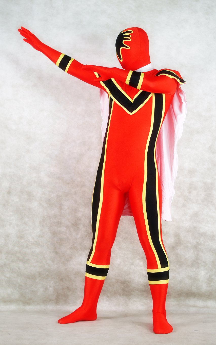 Red Spandex Superhero Halloween Costumes Zentai