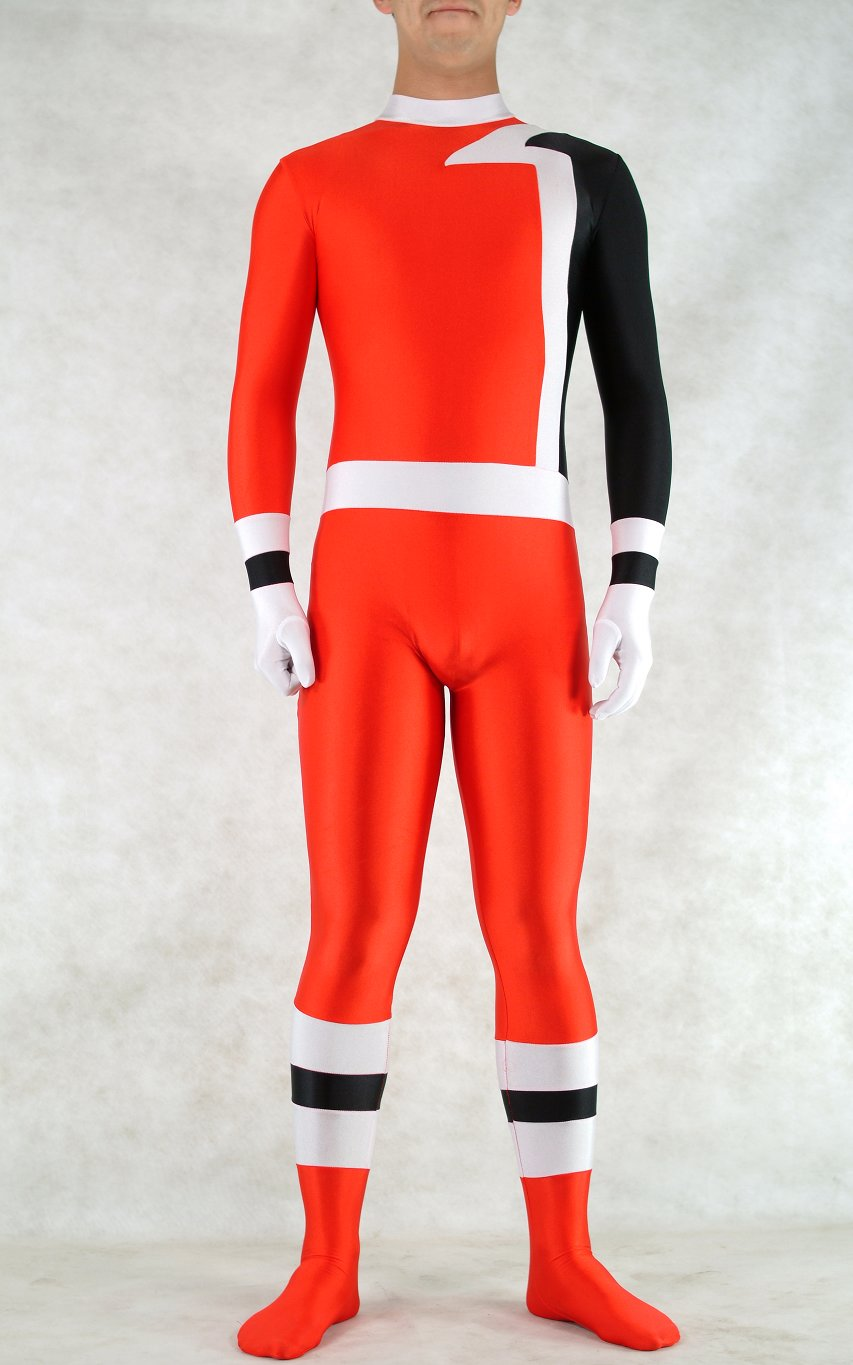 Red Superhero Halloween Costume Zentai Catsuit
