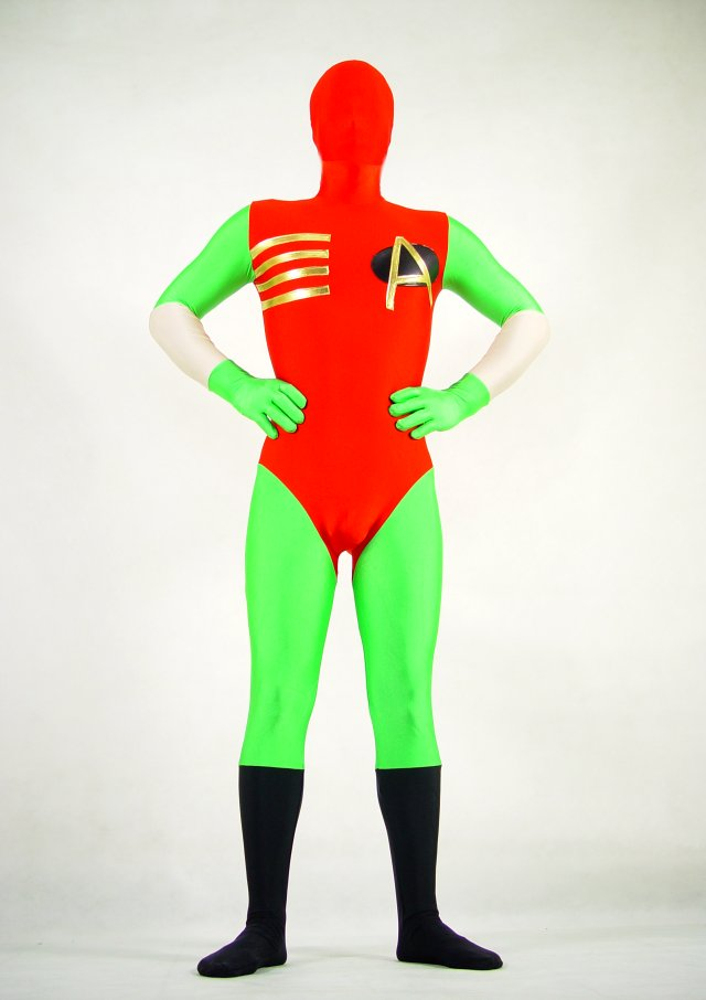 Red Superhero Zentai For Halloween