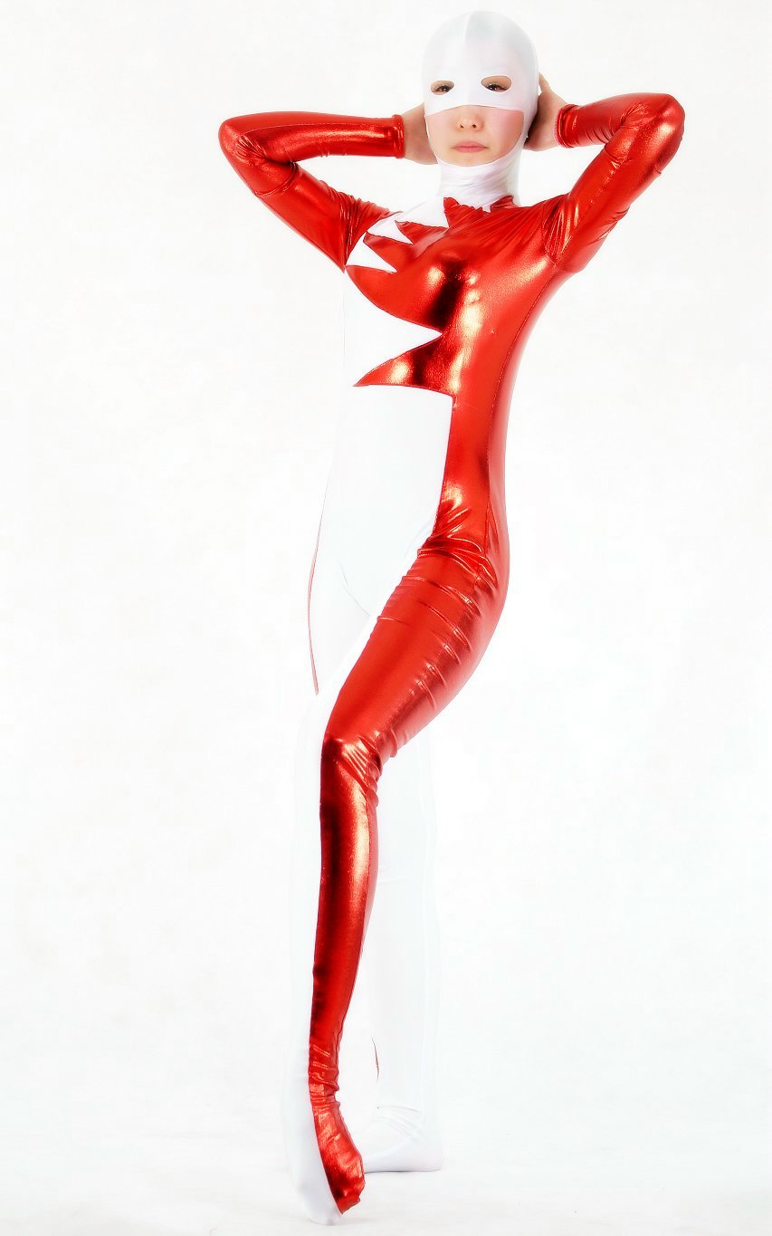 Red White Sexy Halloween Costumes For Women Zentai