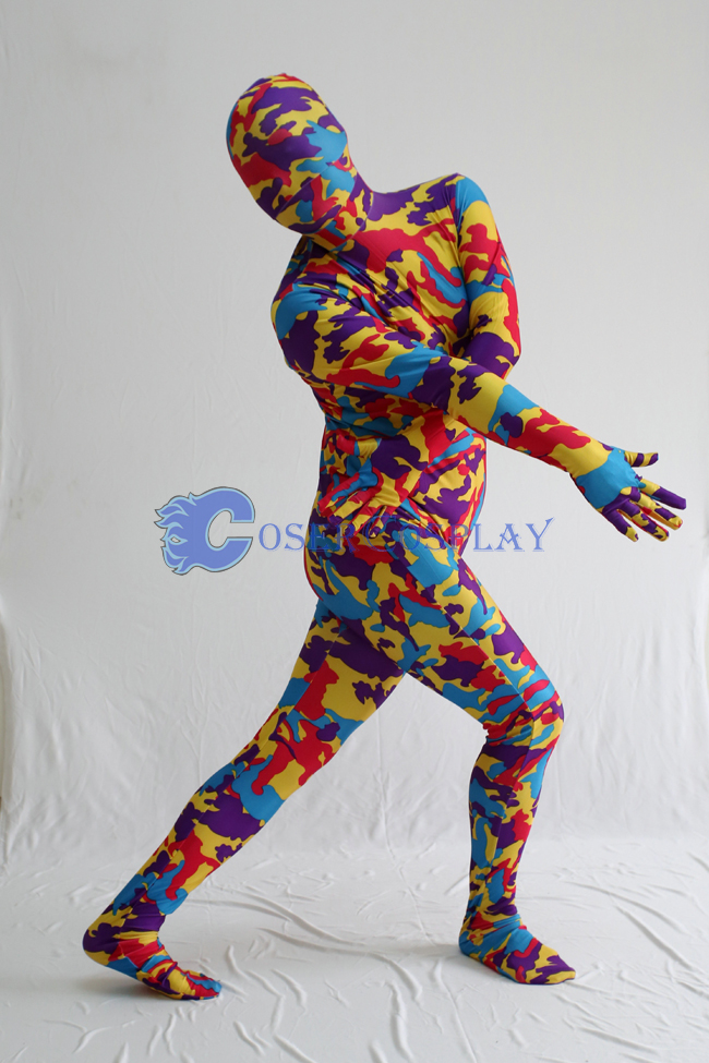 Red Yellow Camouflage Zentai Suits
