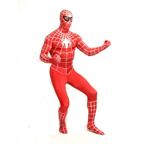 Red Zentai Spiderman Halloween Costume