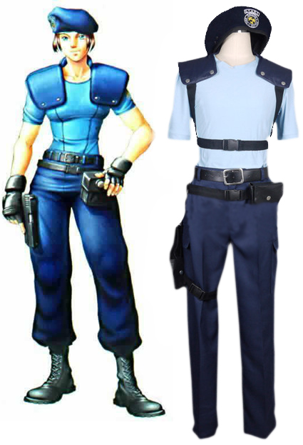 Resident Evil 1 Jill Valentine S.T.A.R.S. Uniform Cosplay Costume