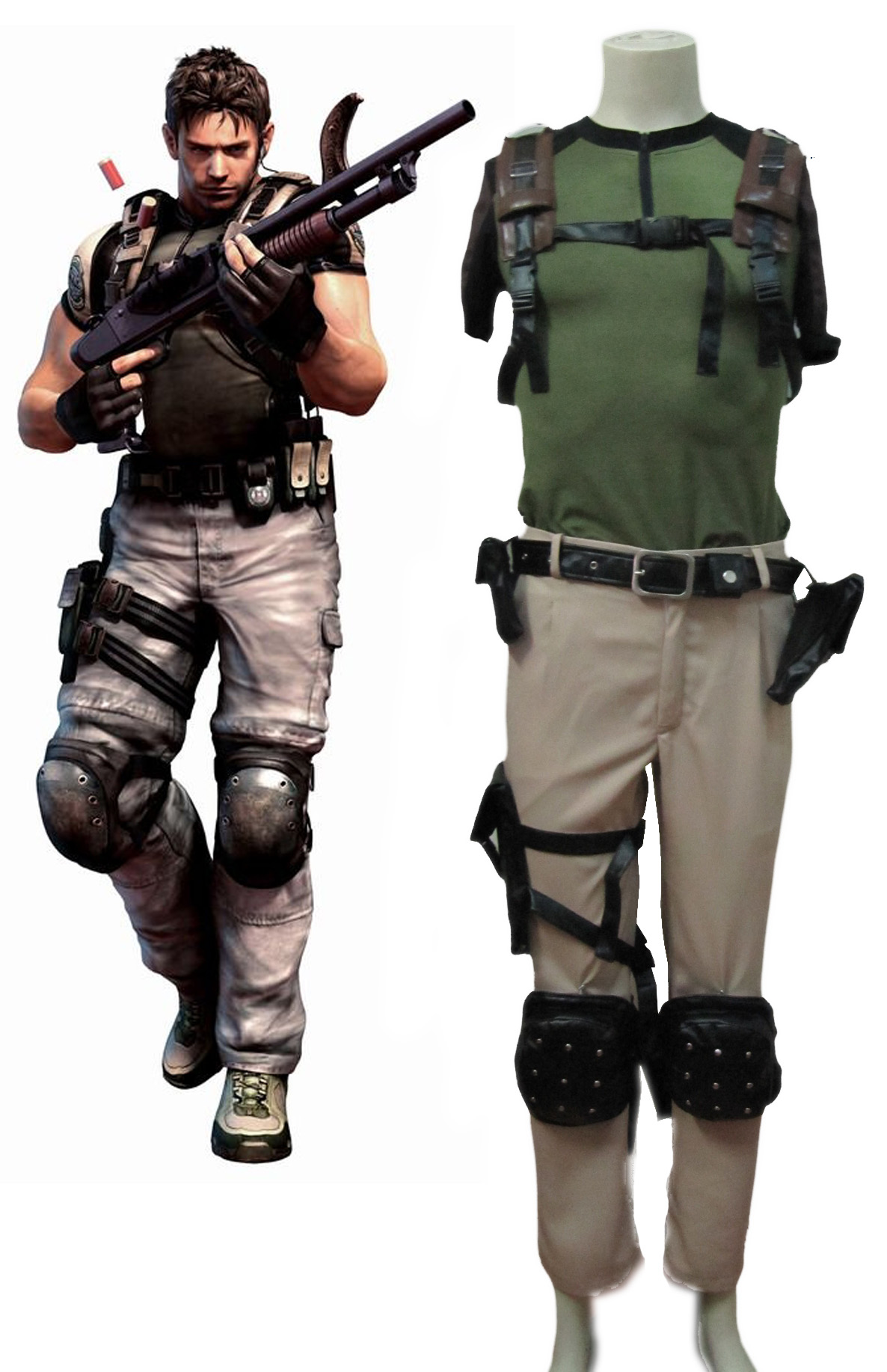 Resident Evil 5 Chris Cosplay Costumes
