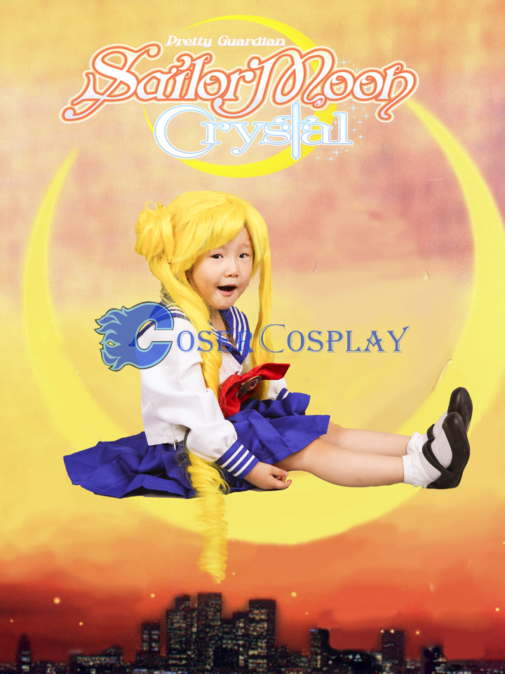 Sailor Moon Crystal Princess Tsukino Usagi for Kids Cosplay Costume