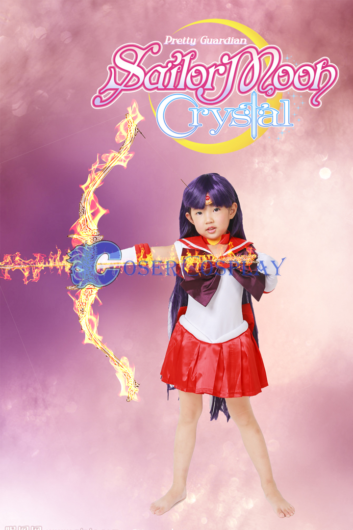 Sailor Moon Crystal Sailor Mars Hino Rei for Kids Cosplay Costume
