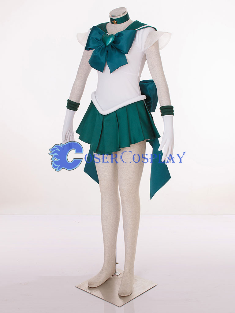 Sailor Moon Crystal Sailor Neptune Kaiou Michiru Cosplay Costume